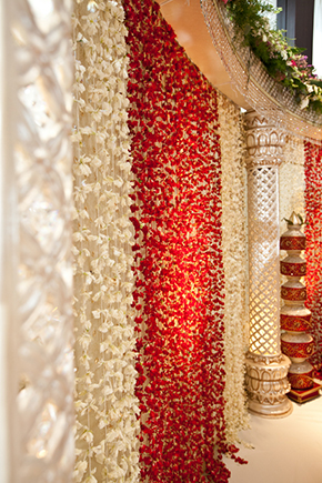 Formal indian wedding boston ma los angeles wedding for Artificial flowers for home decoration india