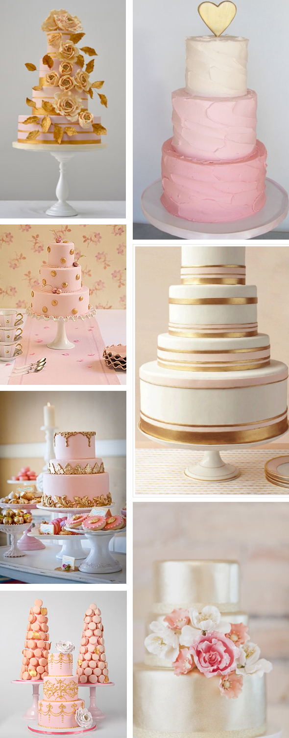 Pink and Gold Wedding Cakes | Los Angeles Wedding Planning: The ...