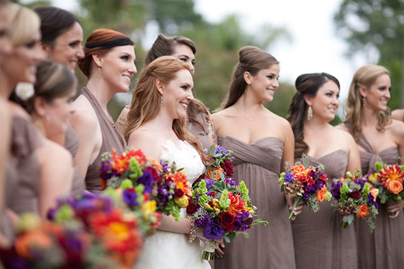 October bridesmaid color dresses