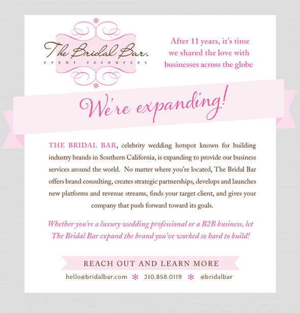 bridal bar expands wedding business consulting